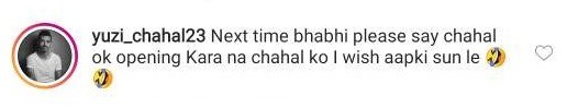 Chahal comment