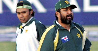 Danish Kaneria reacts after Inzamam recalls the leg-spinner's failed attempt to dominate Brian Lara