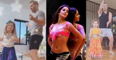WATCH: David Warner and his daughters dance on Katrina Kaif's hit song 'Sheila Ki Jawani'