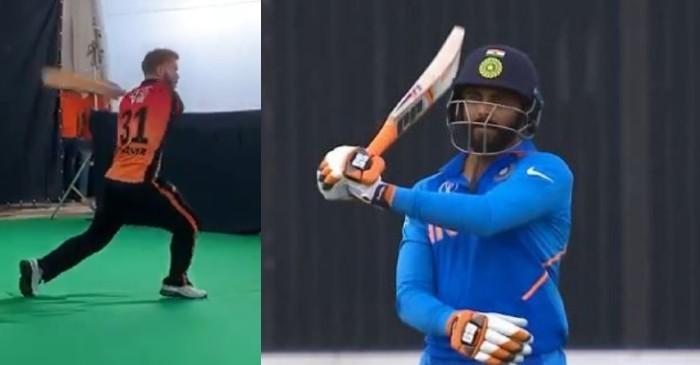 WATCH: David Warner swings bat like Ravindra Jadeja, asks for approval from the latter