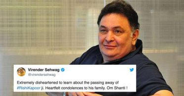 Cricket fraternity mourn death of veteran Bollywood actor Rishi Kapoor