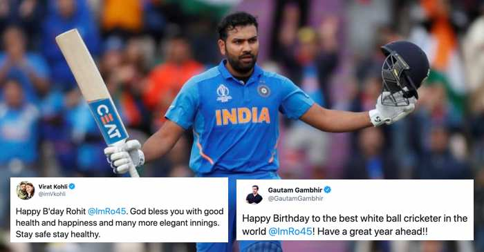 Rohit Sharma birthday tweets