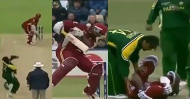 WATCH: When Shoaib Akhtar floored Brian Lara with a ferocious bouncer