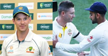 """Tim Paine responds to Michael Clarke's """"too scared"""" to sledge Virat Kohli comments"""