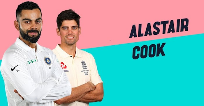Virat Kohli named in Alastair Cook's list of five all-time greats