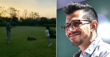 Yuzvendra Chahal reacts to Sakshi's live Instagram video featuring MS Dhoni, Ziva and their pet dog