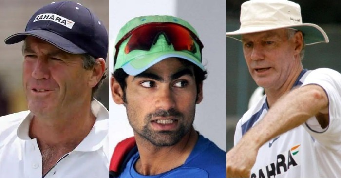 Mohammad Kaif, John Wright and Greg Chappell