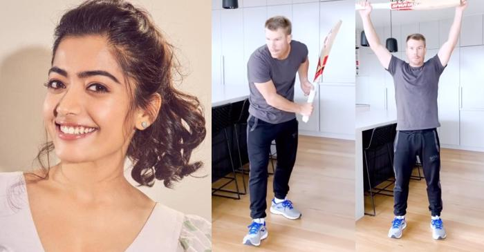 Actress Rashmika Mandanna 'burst into laughter' after seeing David Warner batting on her song