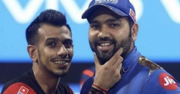 Yuzvendra Chahal comes up with a whacky caption for his picture with Rohit Sharma