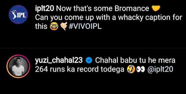 Yuzvendra Chahal comment on IPL post