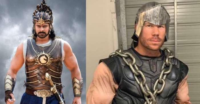 David Warner wears 'Baahubali' costume; tags Prabhas and ask fans who was better?