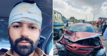 Afghanistan's Afsar Zazai suffers head injury in a horrific car accident
