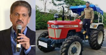 Anand Mahindra praises MS Dhoni as former India captain buys a Swaraj 963 FE tractor for organic farming