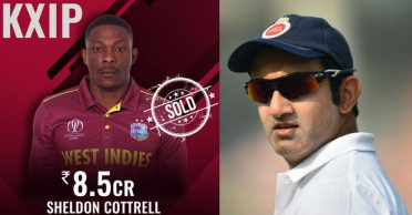 "Gautam Gambhir's ""desperate KXIP selection"" comments, leaves Sheldon Cottrell unfazed"