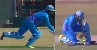 3T Cricket Solidarity Cup: AB de Villiers funnily loses his shoe while taking a run – WATCH