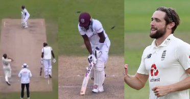 ENG vs WI – WATCH: Chris Woakes cleans up Jermaine Blackwood with an in-dipper