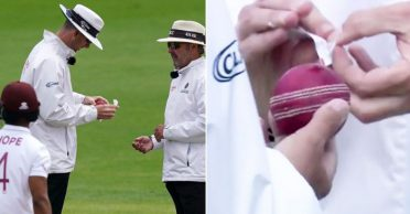 ENG vs WI 2020: England's Dom Sibley accidentally applies saliva on the ball