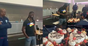 WATCH: West Indies players celebrate Kemar Roach's birthday by following proper social distancing