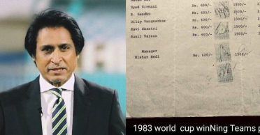 Ramiz Raja shares a pay-slip picture of 1983 world cup-winning Indian side