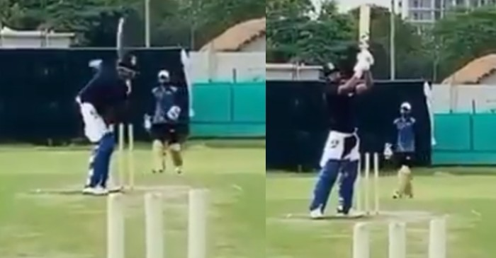 WATCH: Rishabh Pant flaunts his version of the 'Helicopter shot'