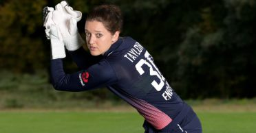 Sarah Taylor reacts hilariously after dropping catches in the practice session
