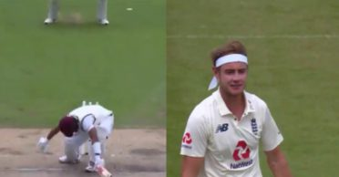 ENG vs WI: WATCH – Stuart Broad bowls a ripper to shatter Shai Hope's stumps