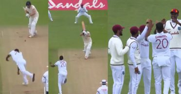 ENG vs WI: WATCH – Shannon Gabriel becomes the first bowler to claim a wicket amid return of international cricket