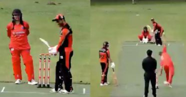 WATCH: This is rare! Wife keeps wickets for her husband in ECS Kummerfeld T10 tournament