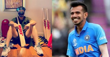 IPL 2020: Yuzvendra Chahal reacts hilariously after looking at AB de Villiers' bat