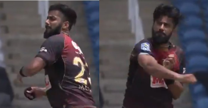CPL 2020: WATCH – Ali Khan celebrates Jonathan Carter's wicket emphatically by chucking his wrist band