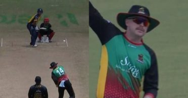 CPL 2020: WATCH – Ben Dunk bowls wearing hats and sunglasses