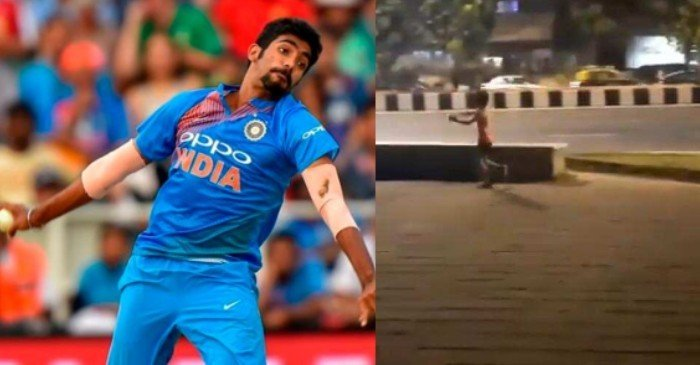 WATCH: Indian speedster Jasprit Bumrah reacts to a kid imitating his bowling action