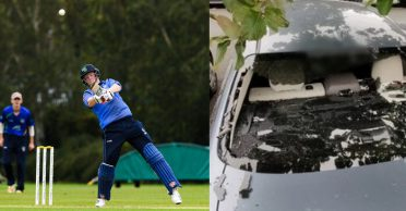 Kevin O'Brien smashes 8 sixes and his own car window during Leinster Lightning's win