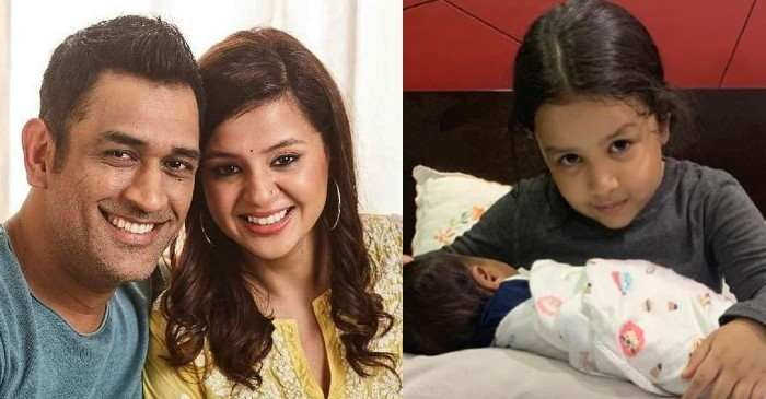 MS Dhoni's wife Sakshi shares adorable pictures of Ziva holding a newborn baby; fans left guessing