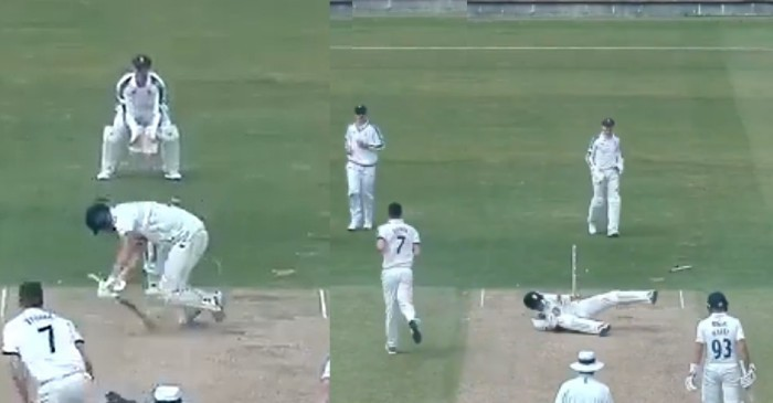 WATCH: Matt Fisher uproots Jack Burnham's middle and leg stump with an unplayable yorker