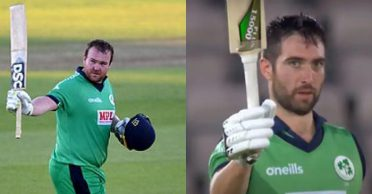 Paul Stirling and Andrew Balbirnie tons drive Ireland to record chase in England