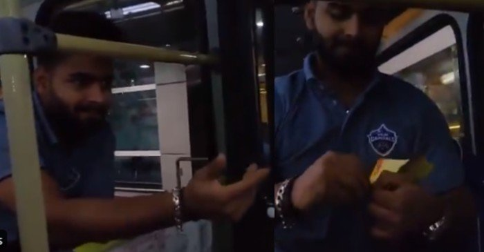 WATCH: Delhi Capitals unveil new role of Rishabh Pant as DTC conductor