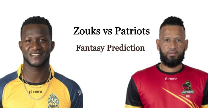 CPL 2020: St Lucia Zouks vs St Kitts and Nevis Patriots – Dream11 Prediction, Playing XI and Live Streaming details