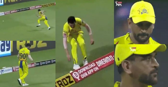 IPL 2020: MS Dhoni 'shakes his head in disappointment' after Deepak Chahar's sloppy fielding
