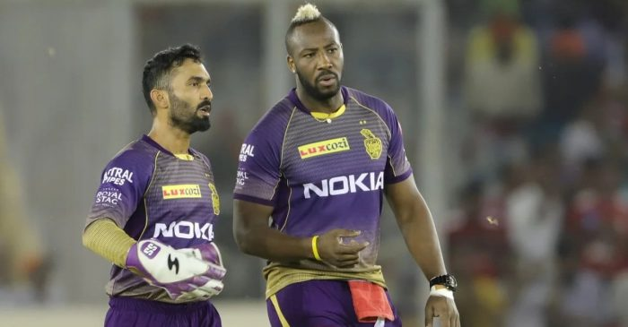 KKR mentor David Hussey clears the air regarding the 'rift' between Dinesh Karthik and Andre Russell