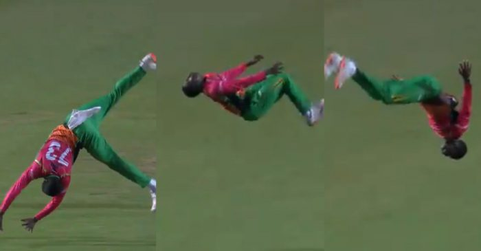 CPL 2020: WATCH – Kevin Sinclair does a 'somersault' after removing Mitchell Santner