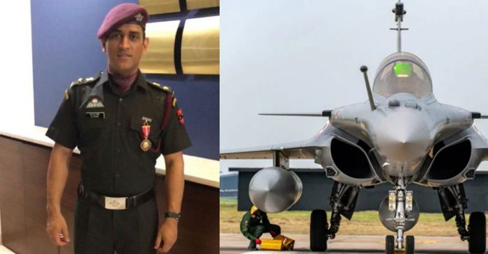 Lieutenant Colonel MS Dhoni applauds Indian Air Force over the induction of Rafale fighter jets