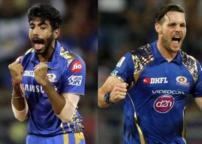 Mitchell McClenaghan and Jasprit Bumrah