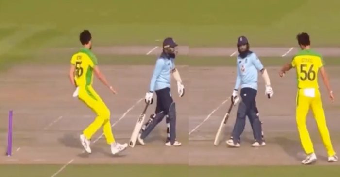 ENG vs AUS: WATCH – Mitchell Starc gives Adil Rashid a 'Mankad' warning for stepping out of his crease