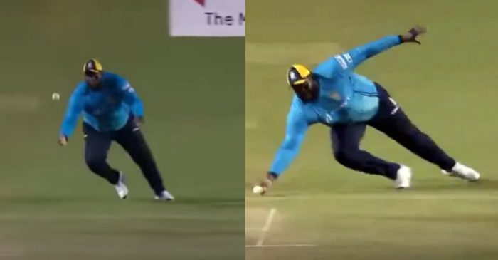 CPL 2020 – WATCH: Rahkeem Cornwall grabs a one-handed blinder in the semi-final clash against Warriors