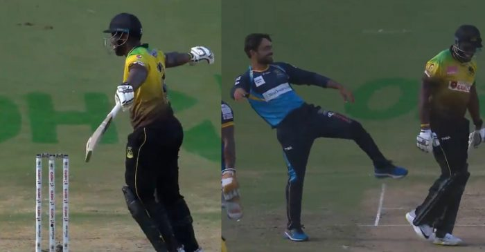 CPL 2020: WATCH: Andre Russell mocks Rashid Khan after a 'lucky escape'