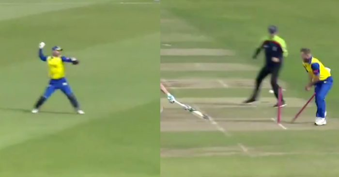 Vitality T20 Blast – WATCH: David Bedingham produces a spectacular run out to dismiss Colin Ackermann