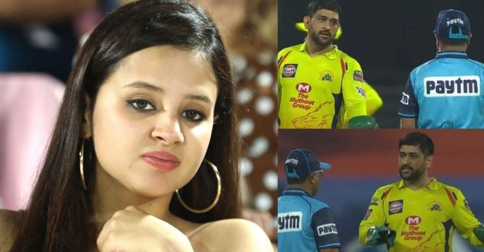 IPL 2020: Sakshi Dhoni deletes her post after slamming umpires for controversial Tom Curran decision