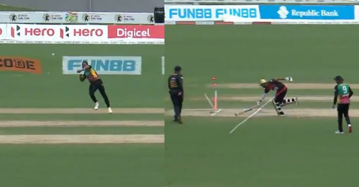 WATCH: Sheldon Cottrell's brilliant run out to dismiss Amir Jangoo in CPL 2020