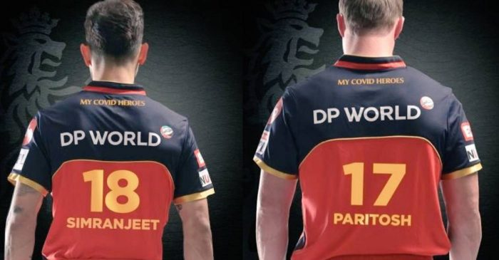 IPL 2020: Here's why Virat Kohli, AB de Villiers are sporting RCB jerseys with names of Simranjeet & Paritosh